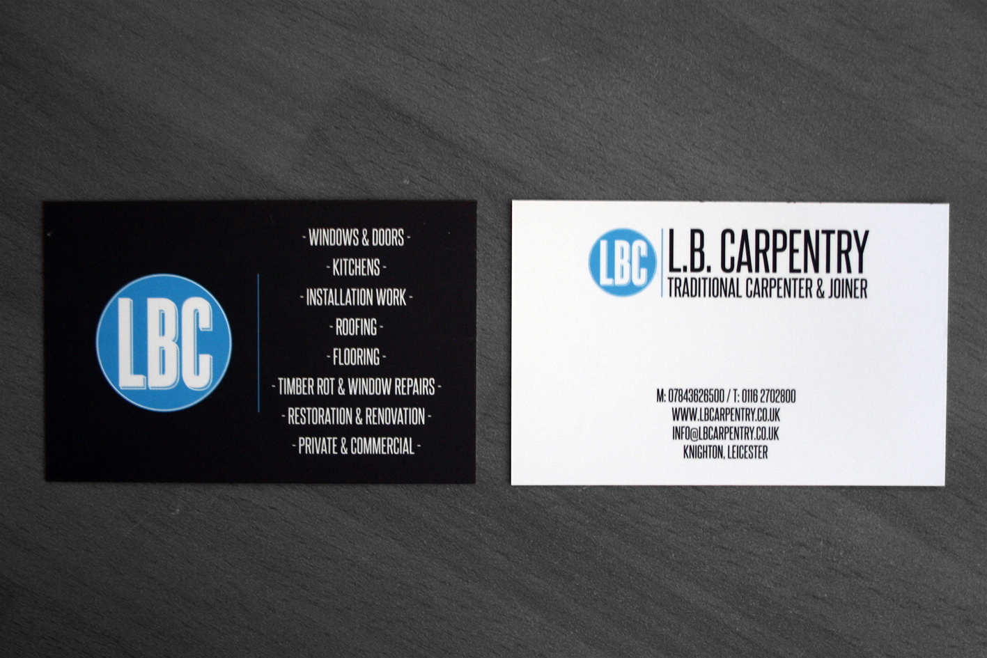 Lb carpentry business cards dominic palmer back magicingreecefo Gallery
